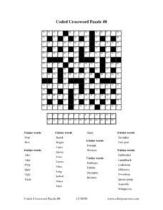 Coded Crossword Puzzle #8 Worksheet