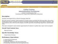 Coffee Cooling Lesson Plan
