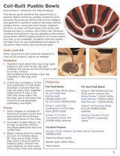 Coil-Built Pueblo Bowls Lesson Plan