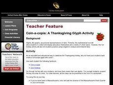 Coin-a-copia: A Thanksgiving Glyph Activity Lesson Plan