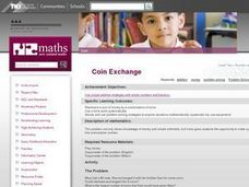 Coin Exchange Lesson Plan