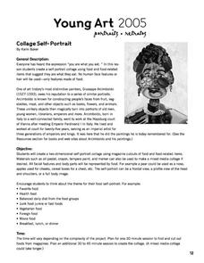 Collage Self-Portrait Lesson Plan