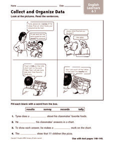 Collect and Organize Data: English Learners Worksheet