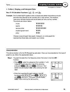 collect display and interpret data 6th 8th grade worksheet lesson planet. Black Bedroom Furniture Sets. Home Design Ideas