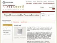 Colonial Broadsides and the American Revolution Lesson Plan