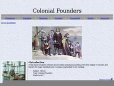 Colonial Founders Lesson Plan