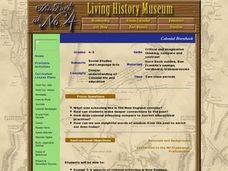 Colonial Hornbook Lesson Plan