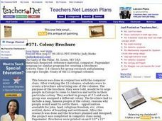 Colony Brochure Lesson Plan