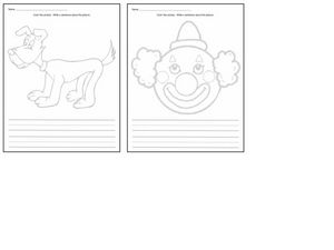 Color and Write Worksheet