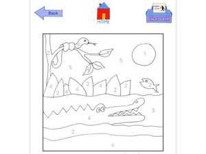 Color by Number Alligator Worksheet