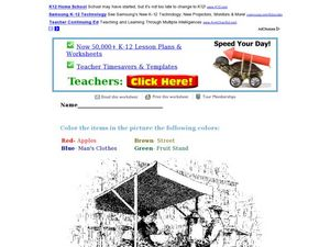 Color the Picture Worksheet
