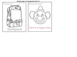 Color the Pictures And Words Worksheet