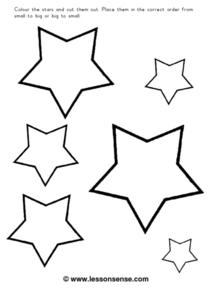 Color the Stars And Order Them Worksheet