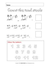 Color the Toadstools Worksheet