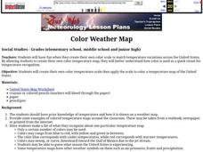 Color Weather Map Lesson Plan