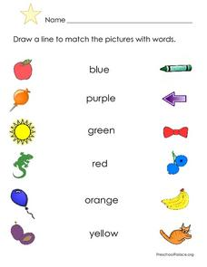 Color Word Matching Lesson Plan