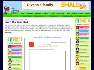 Color Worksheet: Learning the Color Red Worksheet