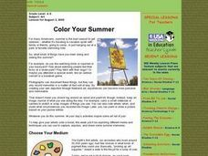 Color Your Summer Lesson Plan