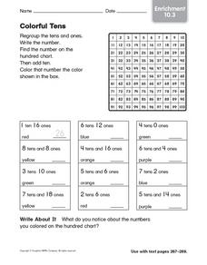 Colorful Tens: Enrichment 10.3 Worksheet