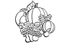Coloring: A Bountiful Harvest Worksheet