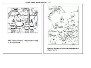 Coloring and Reading Worksheet