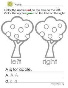 Coloring Apples Lesson Plan