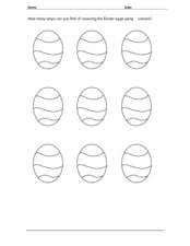Coloring Easter Eggs Worksheet
