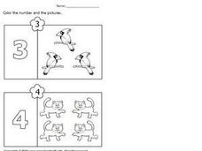 Coloring Numbers and Pictures Worksheet