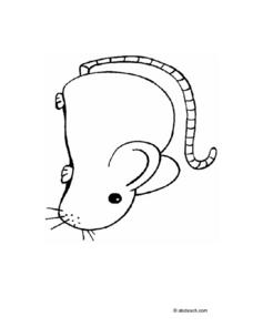 Coloring Page: Mouse Worksheet