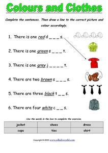 Colors and Clothes Worksheet