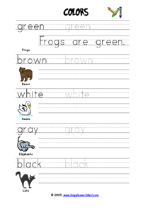Colors: Sentences 2 Worksheet