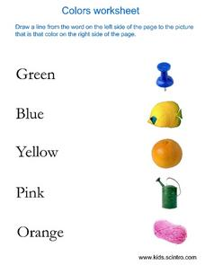 Colors Worksheet Worksheet