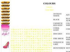 Colours: Word Search Worksheet
