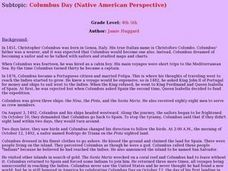 Columbus Day (Native American Perspective) Lesson Plan