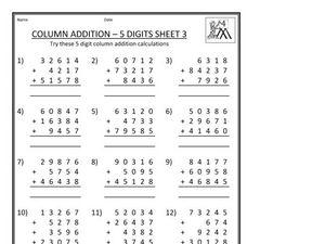 math worksheet : expanded column addition worksheets year 3  grade worksheets : Expanded Column Addition Worksheets