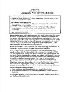 Comapring New Jersey Sediments Lesson Plan