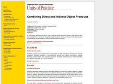 Combining Direct and Indirect Object Pronouns Lesson Plan