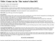 Come on In- the Water's Fine Lesson Plan