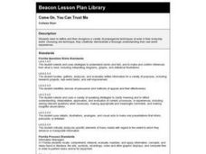 Come On, You Can Trust Me Lesson Plan