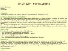 Come With Me To Africa Lesson Plan