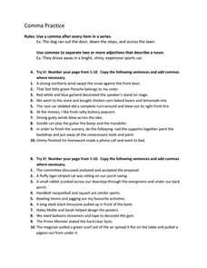 Printables Comma Practice Worksheets comma practice 6th 8th grade worksheet lesson planet worksheet