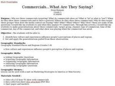 Commercials...What Are They Saying? Lesson Plan