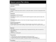 Common Commas Lesson Plan