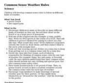 Common-Sense Weather Rules Lesson Plan