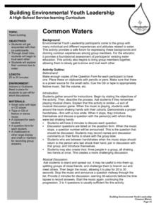 Common Waters Lesson Plan