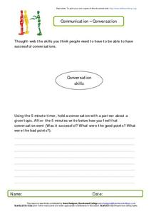 Communication--Conversation Worksheet