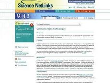 Communications Technologies Lesson Plan