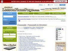 Community in Literature Lesson Plan