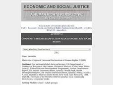 Community Research and Action Plan: Economic and Social Rights Lesson Plan
