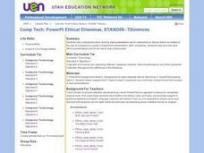 Comp Tech: PowerPt Ethical Dilemmas Lesson Plan